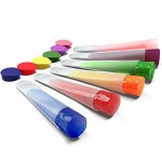 Silicone Ice Pop Molds and Maker, Set of 6 Clear Tubes, 4 Extra Tops Plus Recipes and Ebook